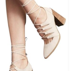 Seychelles nude leather lace up pumps 7